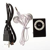 Reproductor MP3 Plug-In con Mini Clip y Lector de Mini Tarjeta SD TF (Varios Colores)