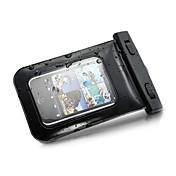 Etui Til Universell iPhone 4/4S Vanntett med vindu Lomme Helfarge Myk PC til