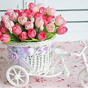 """9.2 """"자전거 디자인 바구니 인공 꽃 집에 장미 꽃 봉오리"""