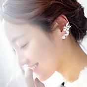 Mujer Puños del oído Moda Perla Perla Artificial Brillante Legierung Joyas Blanco Fiesta Diario Casual Joyería de disfraz
