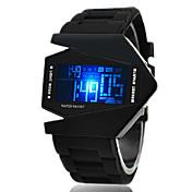 Hombre Reloj Deportivo / Reloj de Pulsera / Reloj digital Despertador / Calendario / Cronógrafo Silicona Banda Negro / Blanco / Azul / LED / LCD / SSUO CR2025