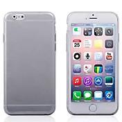 Tapa suave ultrafino transparente del tpu de 0.3 milímetros para las cajas del iphone del iphone 6 / 6s