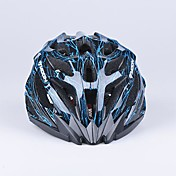 luna 27 respiraderos de pc + eps integralmente moldeados negro y azul casco en bicicleta (56-62cm)