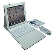 trådløs bluetooth tastatur silikon lærveske for ipad 4/3/2 (assorterte farger)