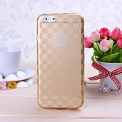 cubierta suave del tpu del modelo de rejilla del oro para las cajas del iphone del iphone 6 / 6s