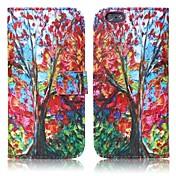 용 아이폰6케이스 / 아이폰6플러스 케이스 지갑 / 카드 홀더 / 스탠드 / 플립 케이스 풀 바디 케이스 나무 하드 인조 가죽 iPhone 6s Plus/6 Plus / iPhone 6s/6