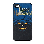el patrón de calabaza de plástico duro caso negro de halloween para iphone4 / 4s