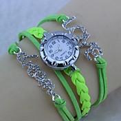 Reloj Pulsera Banda Blanco Negro Verde
