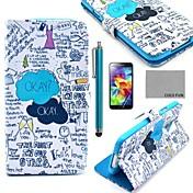 용 카드 홀더 / 스탠드 / 플립 / 패턴 케이스 풀 바디 케이스 단어 / 문구 하드 인조 가죽 Samsung S5 Mini