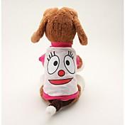 개 티셔츠 블루 / 핑크 강아지 의류 여름 만화 귀여운 / 캐쥬얼/데일리