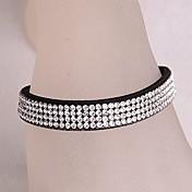 Corea del estilo de la fila del doble pulsera de cristal Velvet