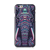 Para Funda iPhone 6 / Funda iPhone 6 Plus Diseños Funda Cubierta Trasera Funda Elefante Dura PolicarbonatoiPhone 6s Plus/6 Plus / iPhone