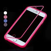 용 아이폰6케이스 / 아이폰6플러스 케이스 플립 / 투명 케이스 풀 바디 케이스 단색 소프트 실리콘 iPhone 6s Plus/6 Plus / iPhone 6s/6
