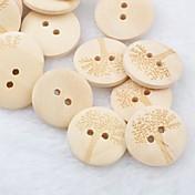 botones de madera diy árbol patrón scrapbook Scraft coser (10 piezas)