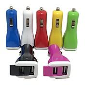 adaptador dual portuario 2.1a 1a del usb del cargador del coche para el iphone 8 7 samsung s8 s7 del iphone 4 4s 5 5s 5c (color clasificado)