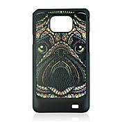 estuche rígido rinoceronte patrón de las venas de cuero para Samsung Galaxy S2 i9100