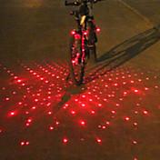 Luces para bicicleta Luz Trasera para Bicicleta Luz Frontal para Bicicleta luces de extremo de barra Láser LED Ciclismo Despertador Láser