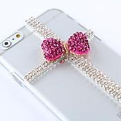 estilo hermoso bricolaje con el patrón de diamantes de imitación de plástico duro para el iphone 6