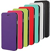 Etui Til iPhone 5 Apple Etui iPhone 5 Flipp Ultratynn Heldekkende etui Helfarge Hard PU Leather til iPhone SE/5s iPhone 5