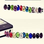 Diamant støvstikkontakt for iPhone 8 7 Samsung Galaxy S8 S7& samsung (tilfeldig farge)