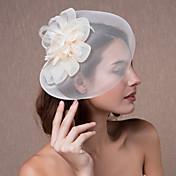 tocado de organza de la mujer tocados de boda-flores flores sombreros estilo elegante