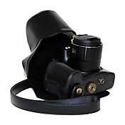 dengpin® caja protectora de la piel de la cámara de aceite retro de cuero de la PU con el puerto de carga para Canon PowerShot SX60 hs