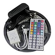 5 m Fleksible LED-lysstriper / Lyssett / RGB-lysstriper LED 3528 SMD RGB Fjernkontroll / Kuttbar / Mulighet for demping 100-240 V / Koblingsbar / Selvklebende / Fargeskiftende / IP44