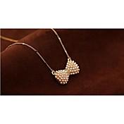 Mujer Collares con colgantes / Collar Y / Collar con perlas - Perla, Brillante, Chapado en Oro Flor Moda Gargantillas Joyas Para Fiesta, Fiesta / Noche, Diario