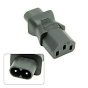 IEC 320 C13 a c8 IEC, IEC de 3 pines hembra a macho adaptador de corriente 2pin, c8 macho a C13