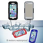 Para Funda iPhone 6 / Funda iPhone 6 Plus Impermeable Funda Cuerpo Entero Funda Un Color Suave SiliconaiPhone 6s Plus/6 Plus / iPhone