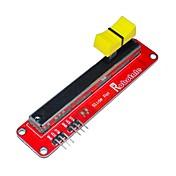 fr4 + aleación de aluminio módulo potenciómetro deslizante electrónico para Arduino - rojo + negro + amarillo