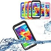 Funda Para Samsung Galaxy Funda Samsung Galaxy Impermeable Transparente Funda de Cuerpo Entero Color sólido ordenador personal para S5 S4
