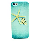 mar modelo estrella de oro caso duro de la cubierta para iphone 5c