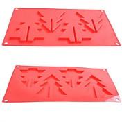 moldes de chocolate pastel de gelatina de hielo de Navidad de la serie, silicona 29.2 × 17 × 0.7 cm (11.5 × 6.7 × 0.3inch)