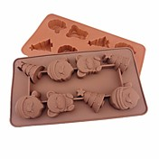 Novedad Hielo Chocolate Galleta Pastel Pan Silicona Moldes para pasteles