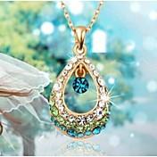 Mujer Cristal Collares con colgantes - Brillante Gota Moda Blanco, Fucsia, Azul Gargantillas Para Boda, Fiesta, Diario