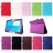 용 삼성 갤럭시 케이스 스탠드 / 플립 케이스 풀 바디 케이스 단색 인조 가죽 Samsung Tab 4 10.1