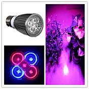 ZDM® 1pc 5.5W 5W 300-500lm E26 / E27 Growing Light Bulb 5 Cuentas LED LED de Alta Potencia Morado 85-265V