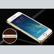 metálico cáscara de parachoques del marco personalizado grabado exquisito oro-atado de 4,7 pulgadas iphone 6 (oro, plata, negro, rosa)