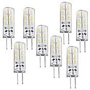 1W G4 Bombillas LED de Mazorca T 24 leds SMD 3014 Regulable Blanco Cálido 100-120lm 3000-3200K DC 12V