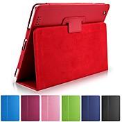 Funda Para iPad 4/3/2 con Soporte Activado / Apagado Automático Funda de Cuerpo Entero Color sólido Cuero de PU para iPad 4/3/2 iPad 9.7