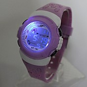 Niños Reloj de Moda / Reloj digital Japonés Reloj Casual Silicona Banda Cool Morado / Un año