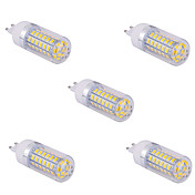 YWXLIGHT® 5pcs 1500 lm G9 Bombillas LED de Mazorca T 60 leds SMD 5730 Blanco Cálido Blanco Fresco AC 110V AC 220V
