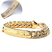 Personlig - kobber - Glamour - gull - Armbånd