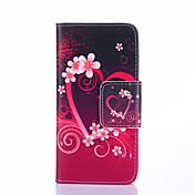 Para Funda Samsung Galaxy Soporte de Coche / con Soporte / Flip / Diseños Funda Cuerpo Entero Funda Corazón Cuero Sintético Samsung S4