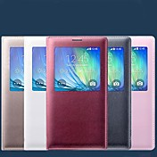 Etui Til Samsung Galaxy Samsung Galaxy Etui med vindu Flipp Heldekkende etui Helfarge PU Leather til A5