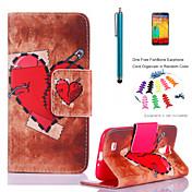 Para Cartera / Soporte de Coche / con Soporte / Flip / Diseños Funda Cuerpo Entero Funda Corazón Dura Cuero Sintético Samsung S4