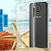 Etui Til Samsung Galaxy Samsung Galaxy Etui Gjennomsiktig Bakdeksel Helfarge PC til Alpha