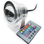 10w 200-250lm rgb a todo color ip68 impermeable entender luz de la lámpara del proyector de la lámpara led (12 v)