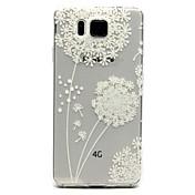 patrón de diente de león cáscara del teléfono del material de TPU relieve pintado transparente para Samsung G850 galaxia alfa